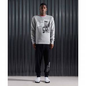 Superdry Vintage Logo Nyc Photo Crew L Grey Marl male