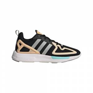 Adidas Originals Zx 2k Flux EU 41 1/3 Core Black / Grey Two / Glow Orange female