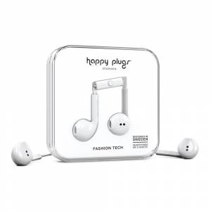 Happy Plugs Earbud Plus Wired One Size White unisex
