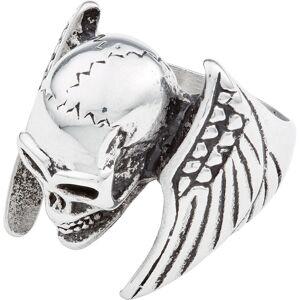 Spirit Motors Stainless Steel Winged Skull 20 mm Silver