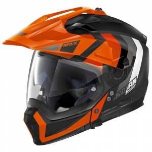 Nolan N70-2 X Decurio N-com Convertible Helmet S Flat Black / Orange