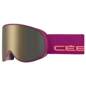 Cebe Attraction Ski Goggles Dark Rose Flash Gold/CAT3 + Amber Flash Mirror/CAT1 Matt Purple / Salmon unisex