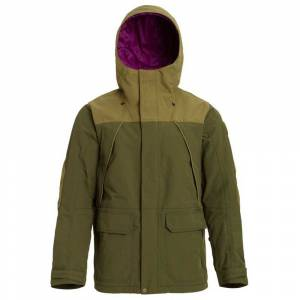 burton Jackets Breach  - Keef / Martini Olive - Size: Small