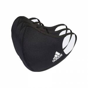 Adidas Face Cover 3 Units S Black unisex
