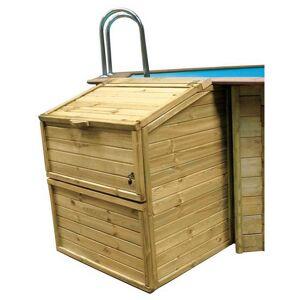 Gre Wood Filtration Room 133 cm Brown  - Size: 133 cm