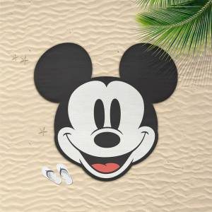Cerda Group Round Mickey Towel One Size Red / White  - Size: One Size