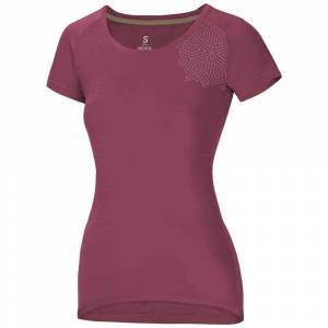 Ocun Raglan Short Sleeve T-shirt XS Mandbq Rose  - Female - Size: Extra Small