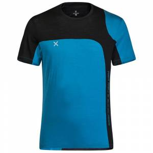 Montura Merino Style Short Sleeve T-shirt M Teal Blue  - Male - Size: Medium