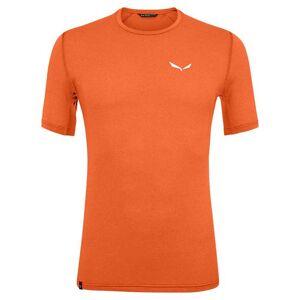 Salewa Pedroc Hybrid 3 Dryton Short Sleeve T-shirt XS Red Orange Melange  - Male - Size: Extra Small