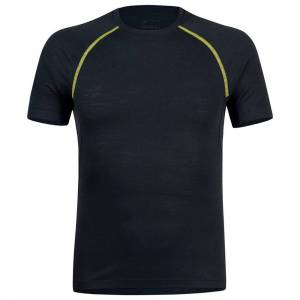 Montura Merino Concept Short Sleeve T-shirt L Slate / Lime Green  - Male - Size: Large