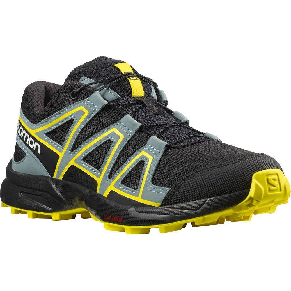 Salomon Speedcross Junior Hiking Shoes EU 34 Black / Black / Evening Primrose  - Unisex - Size: UK 2