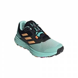 Adidas Terrex Two Flow EU 39 1/3 Clear Mint / Hazy Orange / Screaming Pink  - Female - Size: UK 6