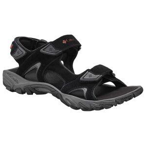 Columbia Santiam Sandals EU 41 Black / Mountain Red  - Male - Size: UK 7