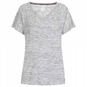 Trespass Inca Short Sleeve T-shirt XS Black Stripe  - Female - Size: Extra Small