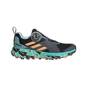 Adidas Terrex Two Boa EU 39 1/3 Core Black / Hazy Orange / Screaming Pink  - Female - Size: UK 6
