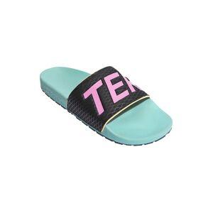 Adidas Terrex Adilette Sandals EU 39 1/3 Acid Mint / Screaming Pink / Hazy Orange  - Male - Size: UK 6