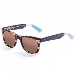 Ocean Sunglasses Lowers Frame Demy Brown-White-Blue / Arms / Smoke / CAT3 Frame Demy Brown-White-Blue / Arms / Smoke