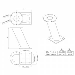 Scanstrut Mounting Bracket For Thermographic And Motor Cameras 150 Mm One Size