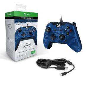 PDP Blue Camo Wired Controller