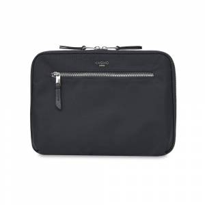 "Knomo Knomad Everyday 10.5"" Organiser W Cross Black Nylon With Full Grain Leather Trim 21(h) x 30(w) x 6(d) cm"