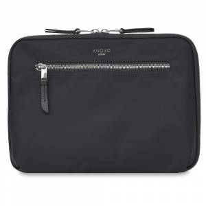"Knomo Knomad Work 13"" Organiser W Cross Body Black Nylon With Full Grain Leather Trim 27(h) x 37.5(w) x 6(d) cm"