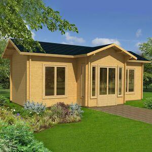 Palmako Anna 7.8m x 4.8m Log Cabin Garden Building (70mm)