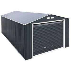 Sapphire 12' x 38' Sapphire Olympian Anthracite Metal Garage (3.62m x 11.35m)