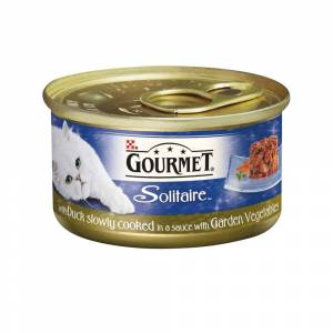 Gourmet Solitaire Cans Slow Cooked with Duck & Garden Veg Sauce 85g