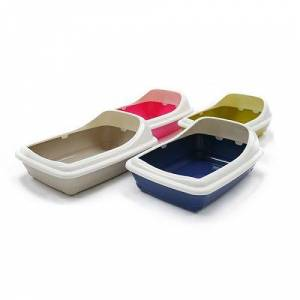 Rosewood Birba Cat Litter Tray With Rim Large
