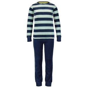 HEMA Children's Pyjamas Velvet Stripes Green (green)