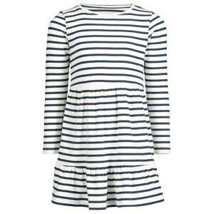 HEMA Children's Dress Ribbed Stripes White (white)