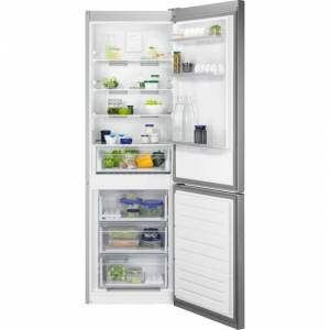 Zanussi ZNME32FU0 60/40 Freestanding Frost Free Fridge Freezer - Silver