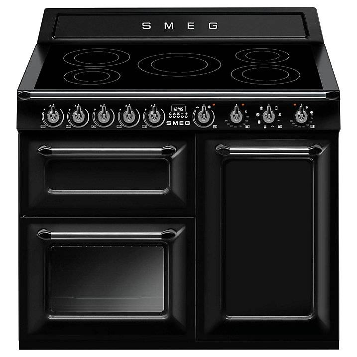 Smeg TR103IBL Victoria Range Cooker with Induction Hob, Black