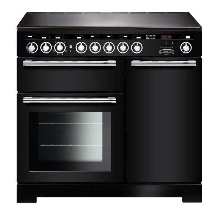 Rangemaster EDL100EIBL/C Encore Deluxe 100 Induction Range Cooker Gloss Black
