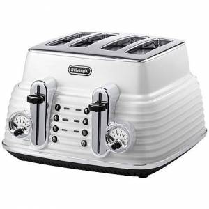 DeLonghi 4-Slice Toaster, Zinc White