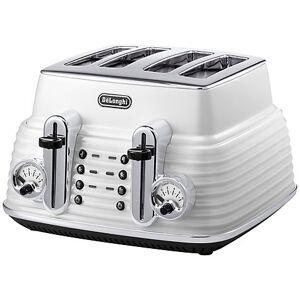 DeLonghi 4-Slice Toaster, Zinc White