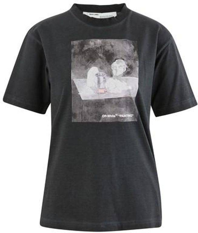 Off-White c/o Virgil Abloh Painting Statue T-shirt - Black - Off-White c/o Virgil Abloh Tops