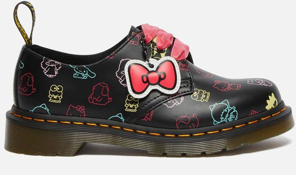 Dr. Martens X Hello Kitty 1461 Leather 3-eye Shoes - Black - Dr. Martens Flats