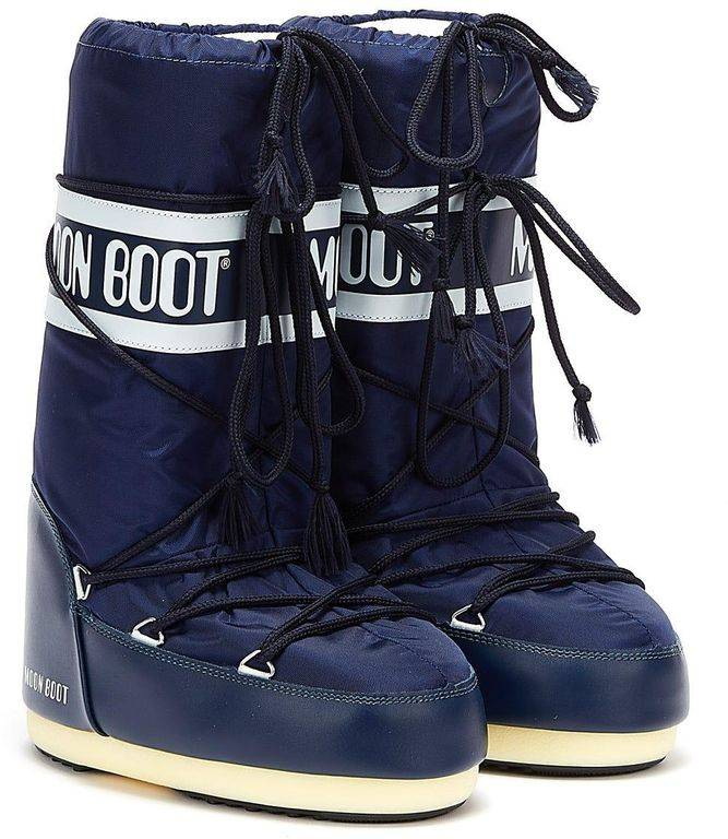Moon Boot Classic Icon Nylon Womens Blue Boots - Blue - Moon Boot Boots