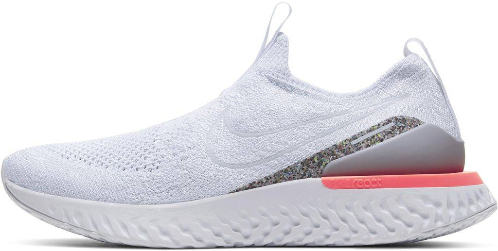 Nike Epic Phantom React Flyknit Icon Clash Running Shoe - White - Nike Sneakers