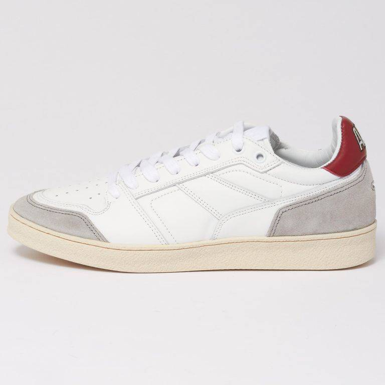 AMI Rouge White Thin Low Trainers E18s403.940 - White - AMI Sneakers