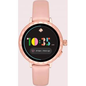 Kate Spade Scallop Pale Vellum Leather Smartwatch - Pink - Kate Spade Watches
