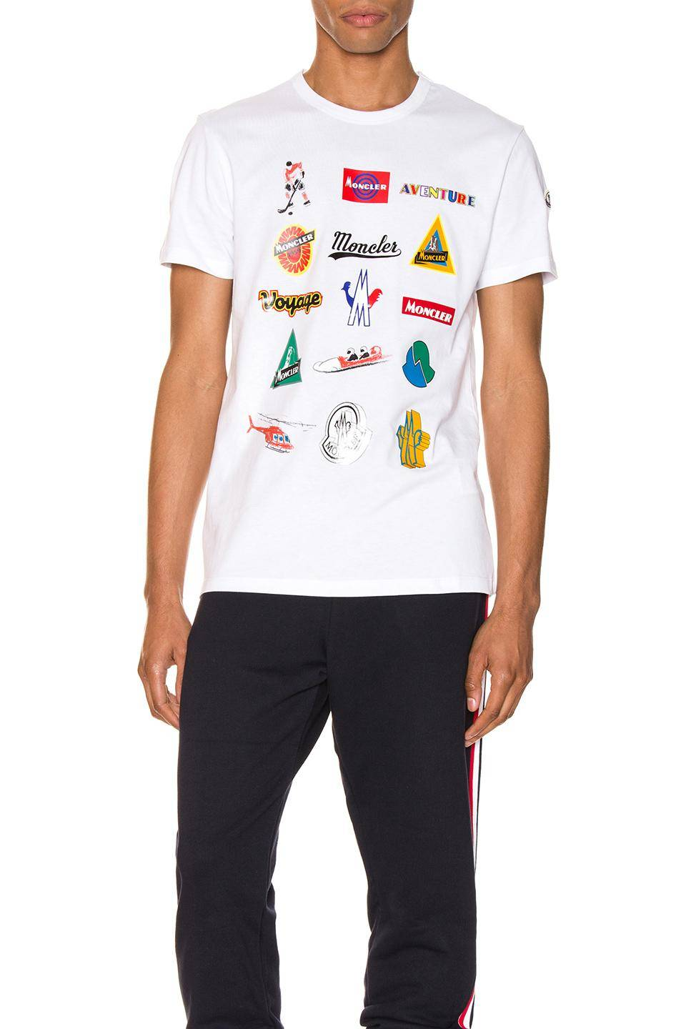 Moncler Graphic Tee - White - Moncler T-shirts