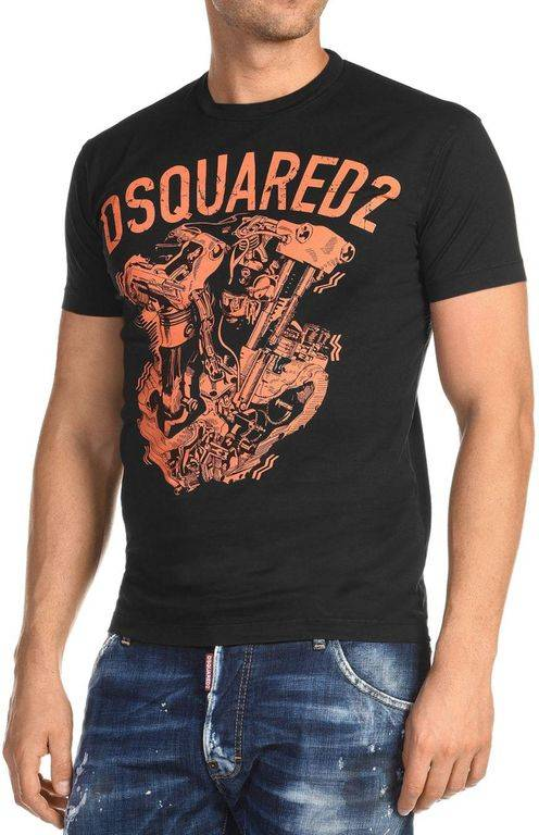 DSquared² Cool Fit Graphic Logo Tee - Black - DSquared² T-Shirts
