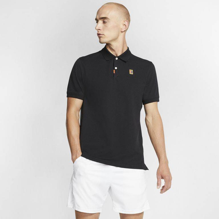 Nike The Polo Slim Fit Polo - Black - Nike T-Shirts