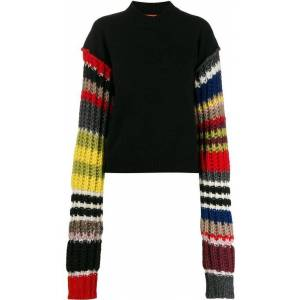 Colville Striped Sleeve Jumper - Black - Colville Knitwear