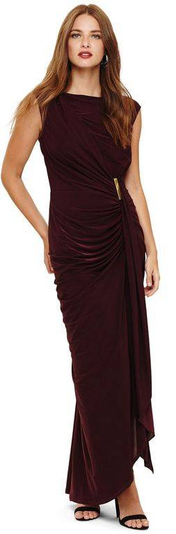Phase Eight Oxblood Donna Maxi Dress - Red - Phase Eight Dresses