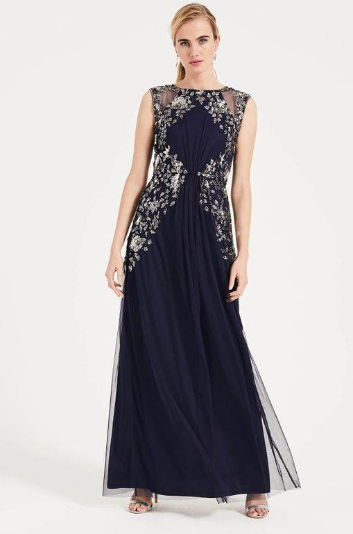 Phase Eight Viviana Embellished Maxi Dress - Blue - Phase Eight Dresses