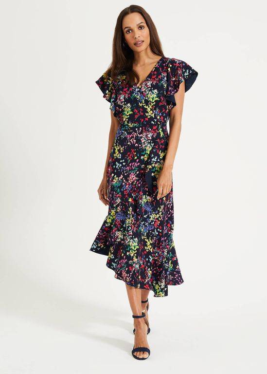 Phase Eight Sheldon Printed Dress - Blue - Phase Eight Dresses