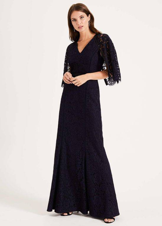 Phase Eight Cianna Lace Dress - Blue - Phase Eight Dresses
